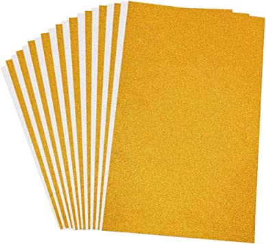 Vgoodall Glitter Paper Cardstock 20 Sheets Silver Gold Glitter Cardstock A4 Size 250gms Craft Paper For Card Making Scrapbooking Diy Craft Projects