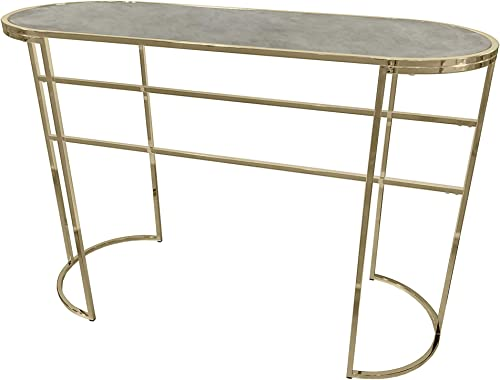 Bombay D2024HT1015 LULU Bar Table, 36 Inch High, Clear, White, Gold