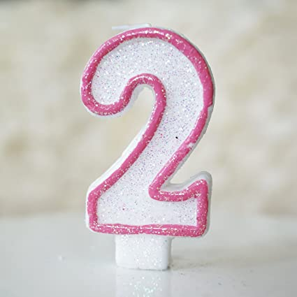 Amazon Number 2 Numerals Birthday Party Cake Candle