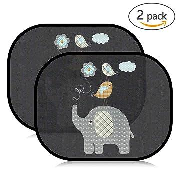 2 X Sonnenblende Auto Baby Selbsthaftende Autosonnenschutz Universal UV Schutz Auto-Kindersitz-Sonnenschutz Babyartikel