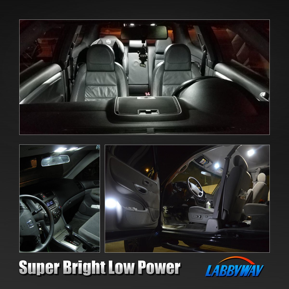 LABBYWAY 20 pcs 194 LED Bulbs Super Bright 6000K White 2835 Chipsets for T10 W5W 2825 168 LED Interior Bulbs for Parking Lights Door Lights License Plate Lights