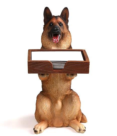Amazon heyfair cute dog business card holder for desk heyfair cute dog business card holder for desk organizer display stand reheart Gallery