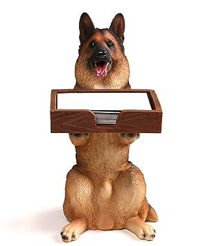 Amazon heyfair cute dog business card holder for desk heyfair cute dog business card holder for desk organizer display stand colourmoves