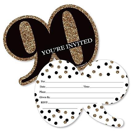 Amazon.com: Adulto 90 cumpleaños con forma de – oro – llenar ...