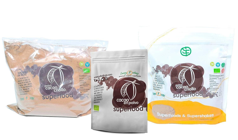 Energy Feelings Cacao Puro Premium Ecológico en Polvo - 4 Paquetes de 200 gr - Total: 800 gr: Amazon.es: Salud y cuidado personal
