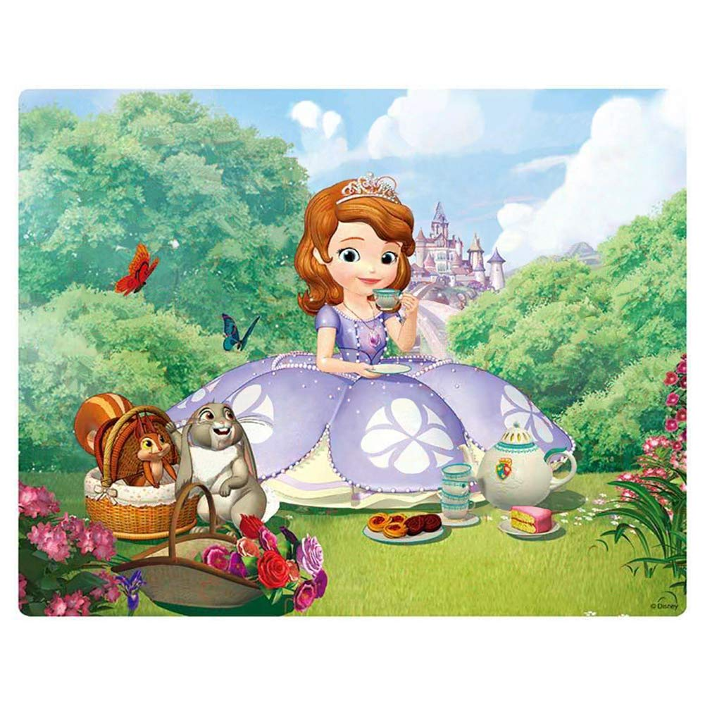 NEILDEN Disney Puzzles in a Metal Box 100 Piece Sofia Jigsaw Puzzles for Kids Ages 4-8 Puzzles for Girls for Children Learning Educational Puzzles (Tea Party)