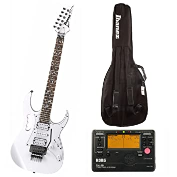 Ibanez jemjr Jem/UV Steve Vai Firma 6 cuerdas para guitarra eléctrica (blanco)