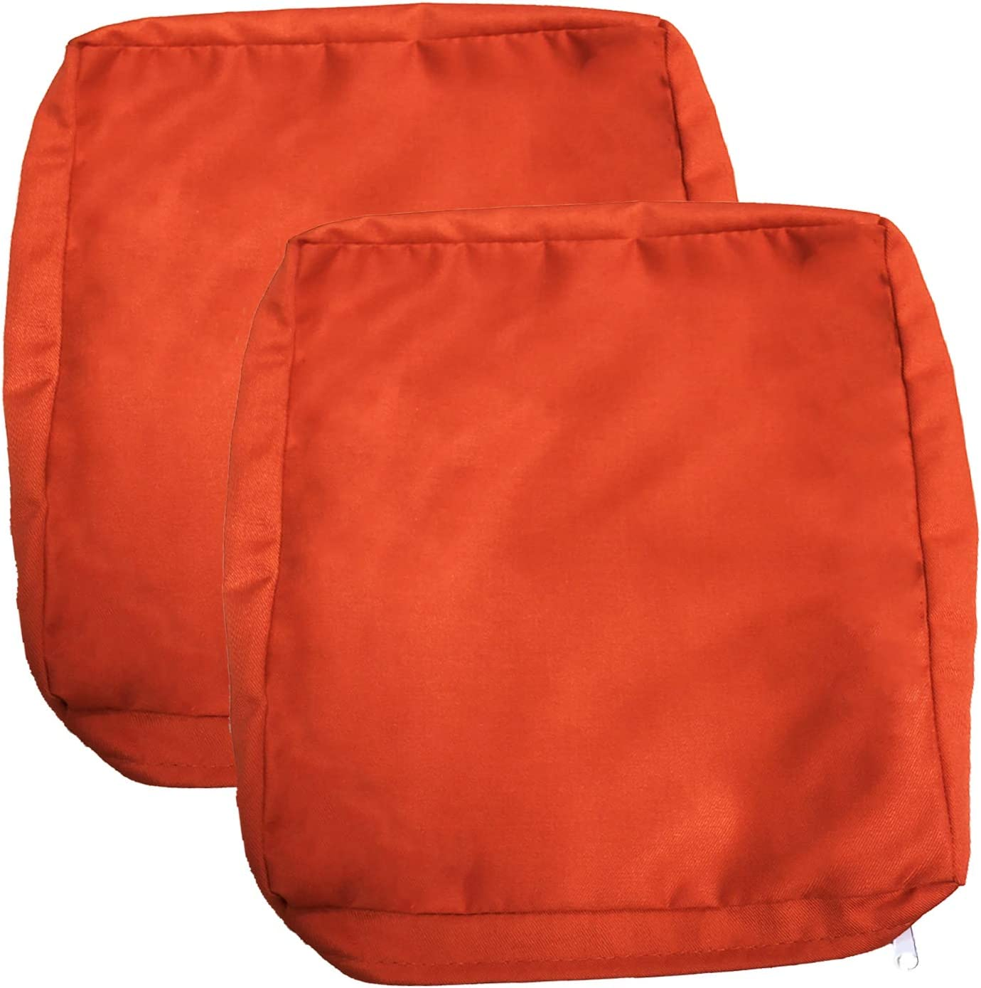 FLYMEI Outdoor Cushion Covers Set 2, Replacement Patio Cushion Covers 24 x 24 x 4 Inch, Orange Washable Cushion Pillow Seat Covers, Large Chair Seat Covers Only Patio Cushion Slipcovers
