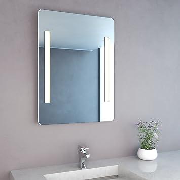 Spiegel Mit Integrierter Beleuchtung neg badspiegel mitra 80x60cm hxb spiegel abgerundet mit