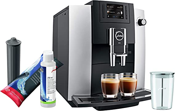 Jura E6 Platinum Automatic Coffee Machine Set