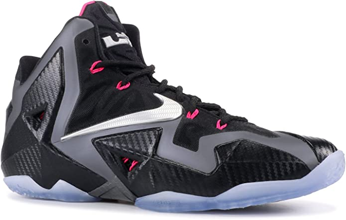 historia escalera mecánica Racionalización  Amazon.com | Nike Lebron XI Miami Nights Basketball Shoe, Black/Metallic  Silver/Pink Foil, 7.5 M US | Basketball