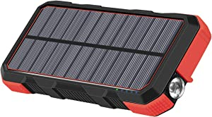 Hiluckey Portable Solar Charger 26800mAh USB C 18W Power Bank Fast Charge Battery Charger for iPhone 11, Samsung S10, Huawei, MacBook