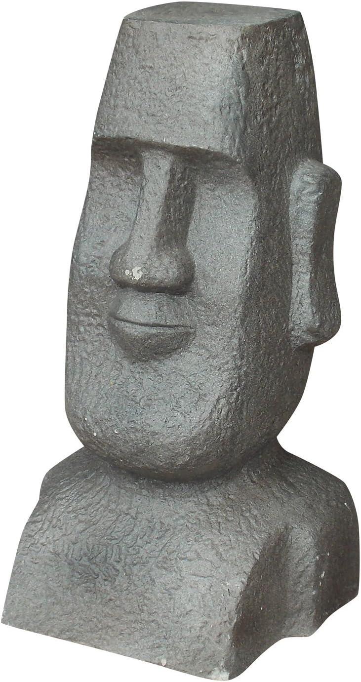 Homea Jardin 5dej1159 Estatua de jardín Moai Barro fibreuse Fibra de Arcilla Gris 28 x 27 x 51 cm: Amazon.es: Jardín