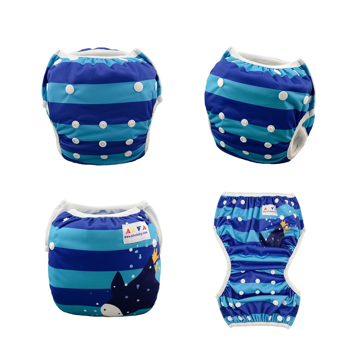 Alva Baby 2pcs Pack One Size Reuseable Washable Swim Diapers DYK11-12-CA