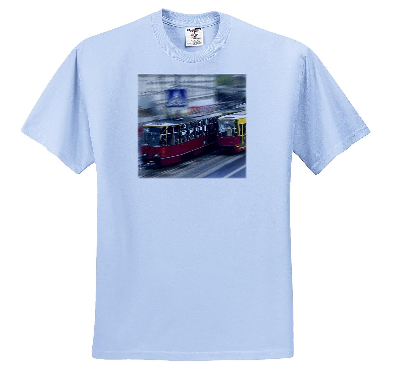 Warsaw Danita Delimont Tram on the street T-Shirts Trams Poland Keren Su EU22 KSU0037