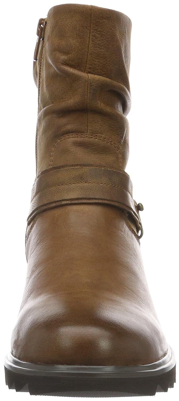 SPM Damen schwarzfish Ankle Biker Stiefel Braun Cuoio (Dk Cuoio 008/Dk Cuoio Braun 008/Dk Cuoio 008) 26e012