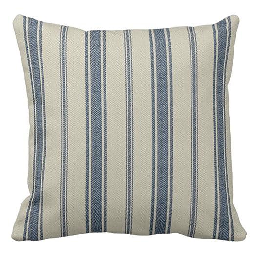 emvency manta funda de almohada azul marino francés Jacquard ...