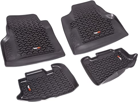 Rugged Ridge 12987.10 Black Front and Rear Floor Liner Kit