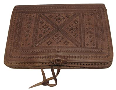 83a9f8da00 Image Unavailable. Image not available for. Color  Moroccan 100% Embossed  Thick Leather Handmade Cross Body Purse ...