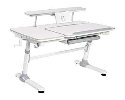 KIDOMATE Study Table Height Adjustable Table (Grey) - for All Ages