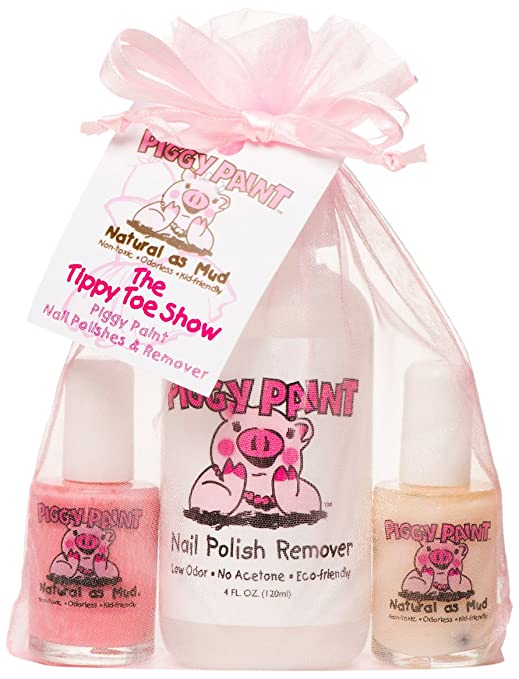 Amazon.com : Piggy Paint Non-toxic Girls Nail Polish Kit - The Tippy ...