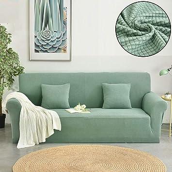 KWPAHD Funda de sofá Sofa Covers for Living Room Thick Plaid ...