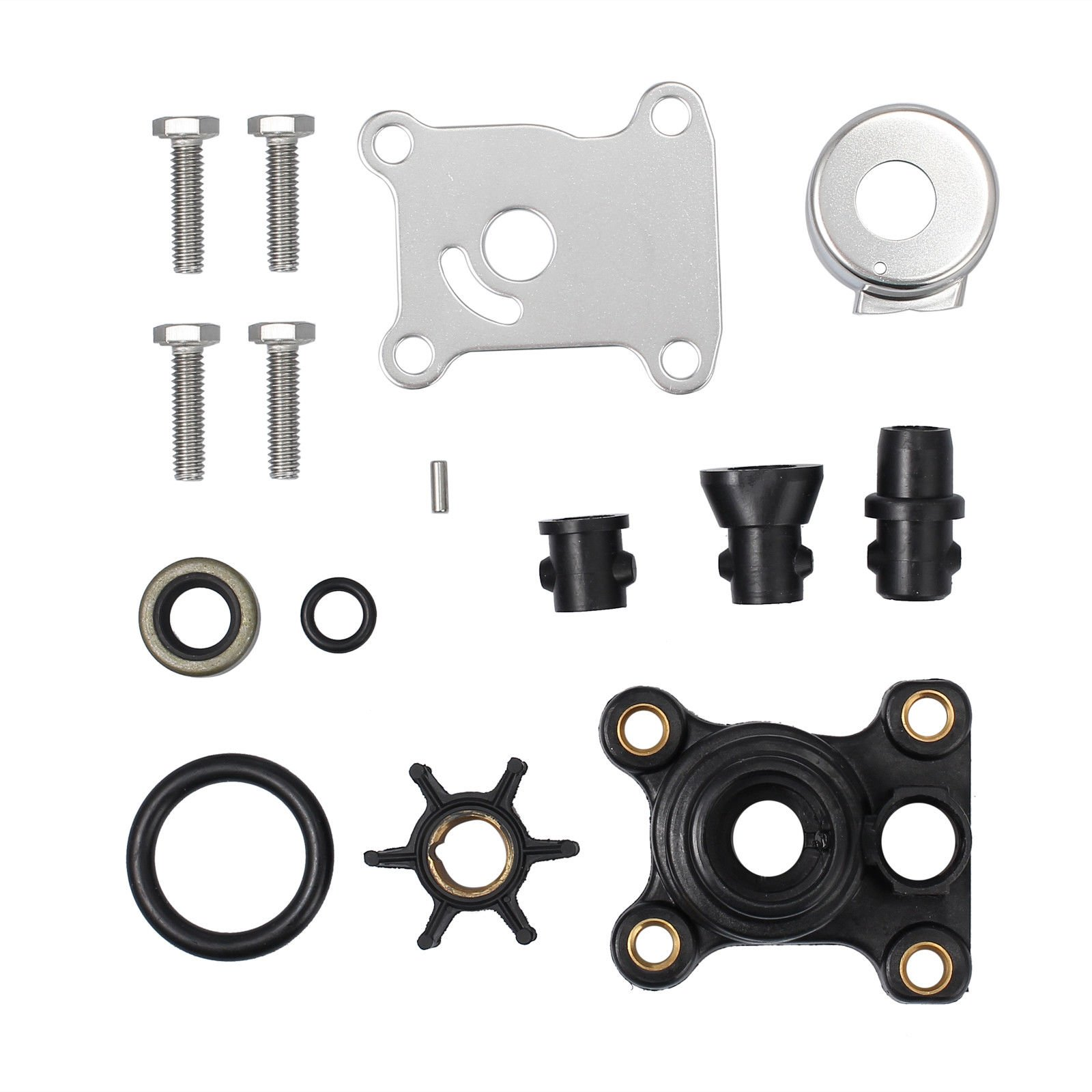 AUTOUTLET Impeller Water Pump Repair Kit Replaces for OEM 394711, 9.9hp/5hp Johnson/Evinrude 2 Stroke 1974 & Later, Johnson/Evinrude 4-Stroke 1995 & Later