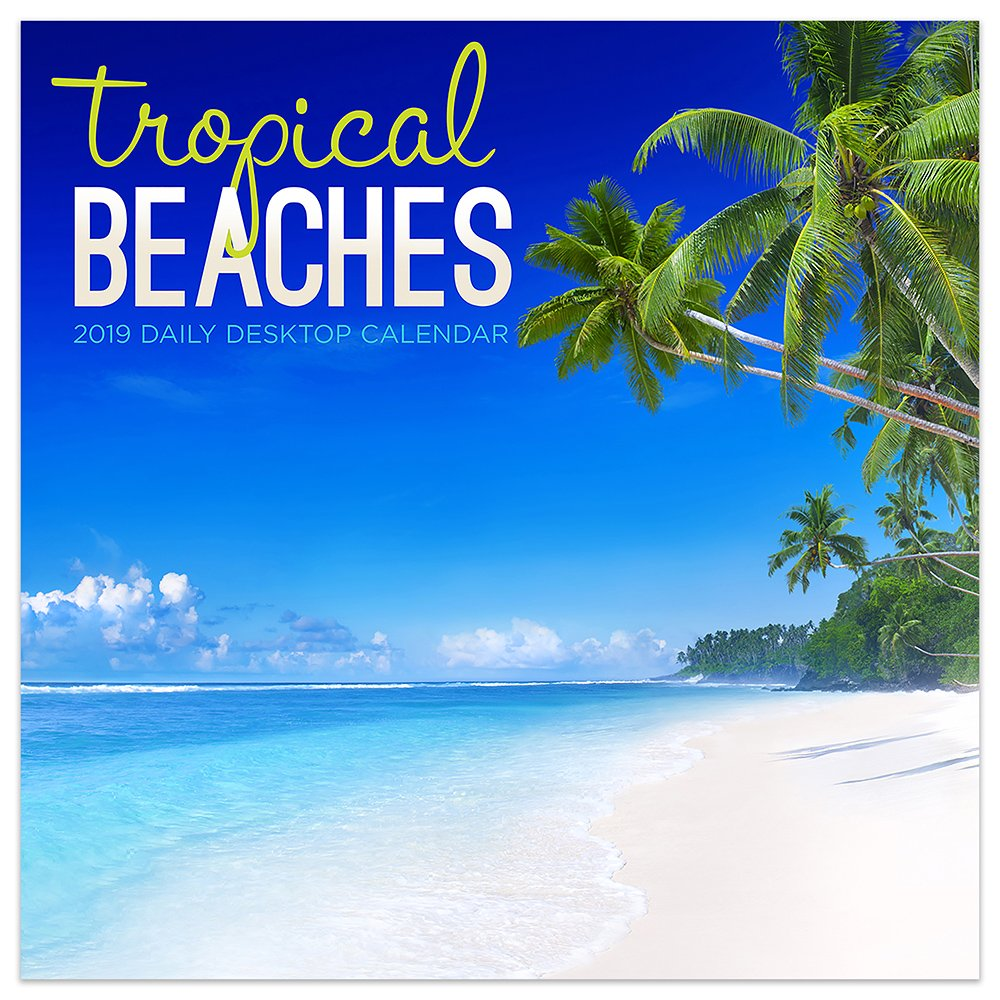 2019 Beach Calendar 2019 Tropical Beaches Daily Desk Calendar: TF Publishing