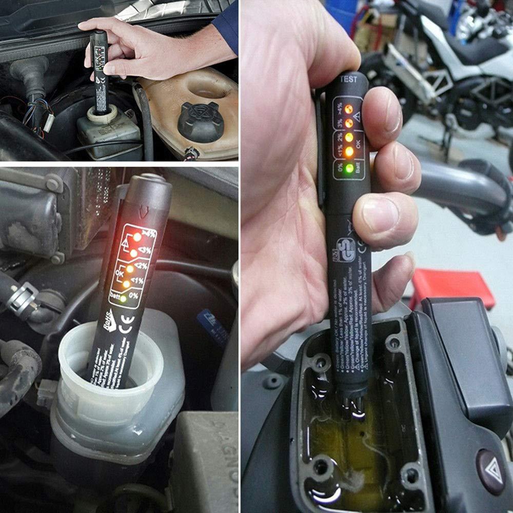 SmartHitech Aceite de Freno de Coche Pluma del Probador Con Indicador LED L/íquido de frenos Calidad Detector Para Todos los Veh/ículos