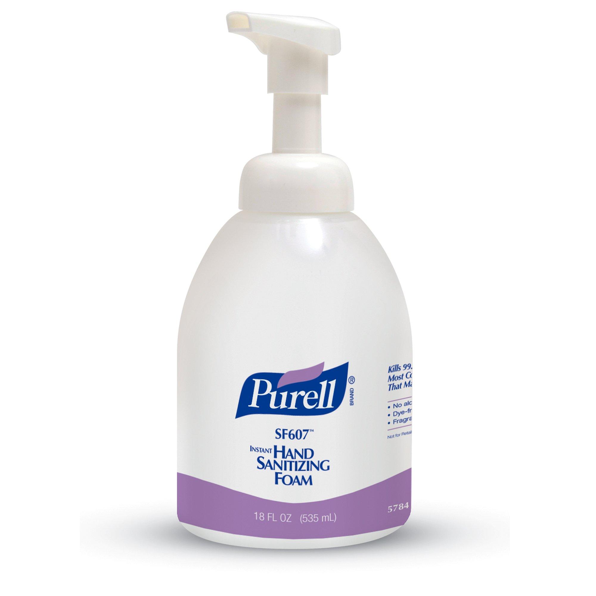 PURELL SF607 Advanced Hand Sanitizer Foam, Fragrance Free, 535 mL Sanitizer Counter Top Pump Bottles (Pack of 4) - 5784-04
