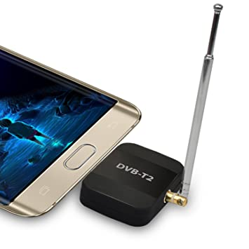 Sintonizador de DVB-T / T2 USB PadTV DVB-T2 Sintonizador de USB Stick Receptor de TV HD Digital para Android Phone Pad: Amazon.es: Electrónica