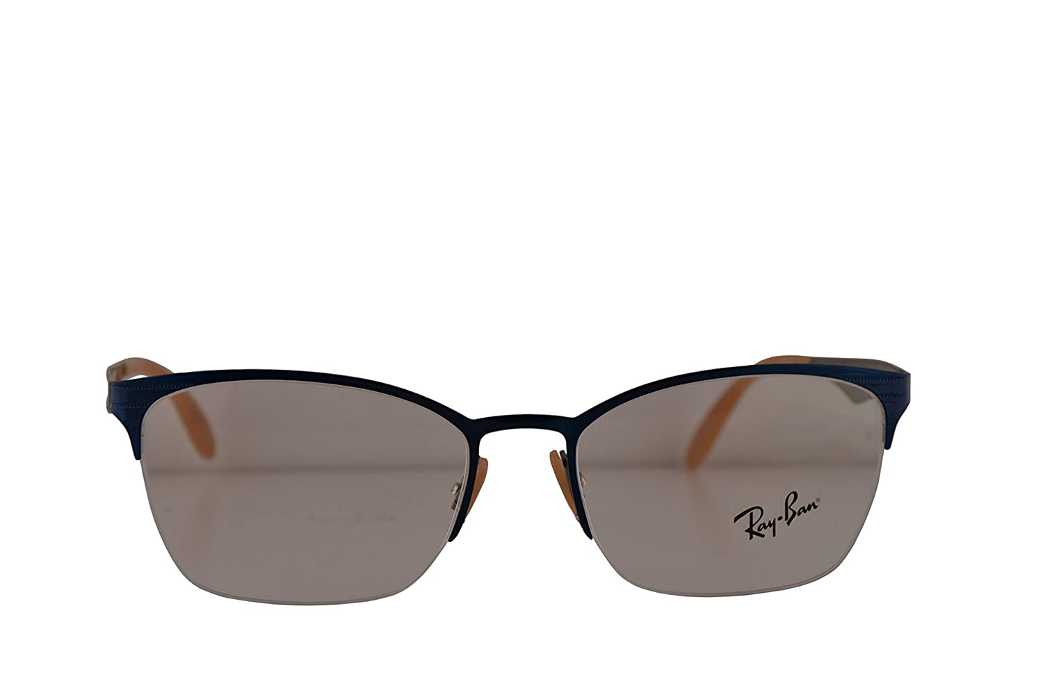 6faf43510256e Ray Ban RX6345 Eyeglasses 52-17-135 Top Brushed Light Blue On Grey w ...