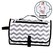 Diaper Changing Pad,Portable Baby Diaper Changing Clutch Waterproof Foldable Changing Station Changing Mat Kit and Wipes Case for Traveling and Outdoors, Toddlers Infants and Newborns