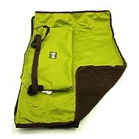 UEETEK Faltbare wasserdichte Haustier Decke Camping Decke,Hund Katze Mat wärmende Decke mit Tragetasche für Hunde und Katzen,Grün 100 * 70CM