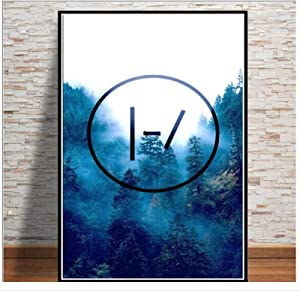 w15Y8 Posters and Prints Twenty One Pilots Music Band Poster Wall Art Picture Canvas Painting for Room Home Decor-20X28 Inches Without Border