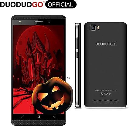Smartphone Libres 4G 5 Pulgadas Android 7.0 Quad Core 16GB(Escalable 32 GB) Telefono Movil Libres 2800mah Cámara Doble SIM WiFi BT Moviles Libres 4G DUODUOGO J3 + (Negro): Amazon.es: Electrónica