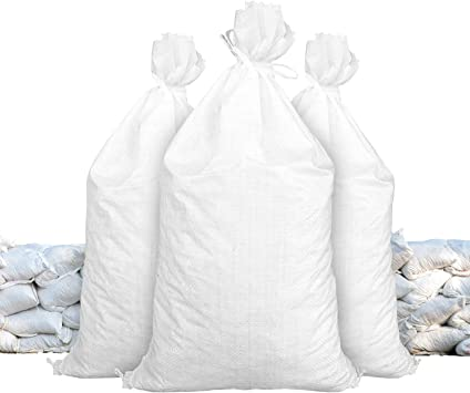 Amazon Com Sandbags For Flooding Size 18 X 30 Color White Sand Bag Flood Water Barrier Water Curb Tent Sandbags Store Bags By Sandbaggy 25 Bags Camera Photo