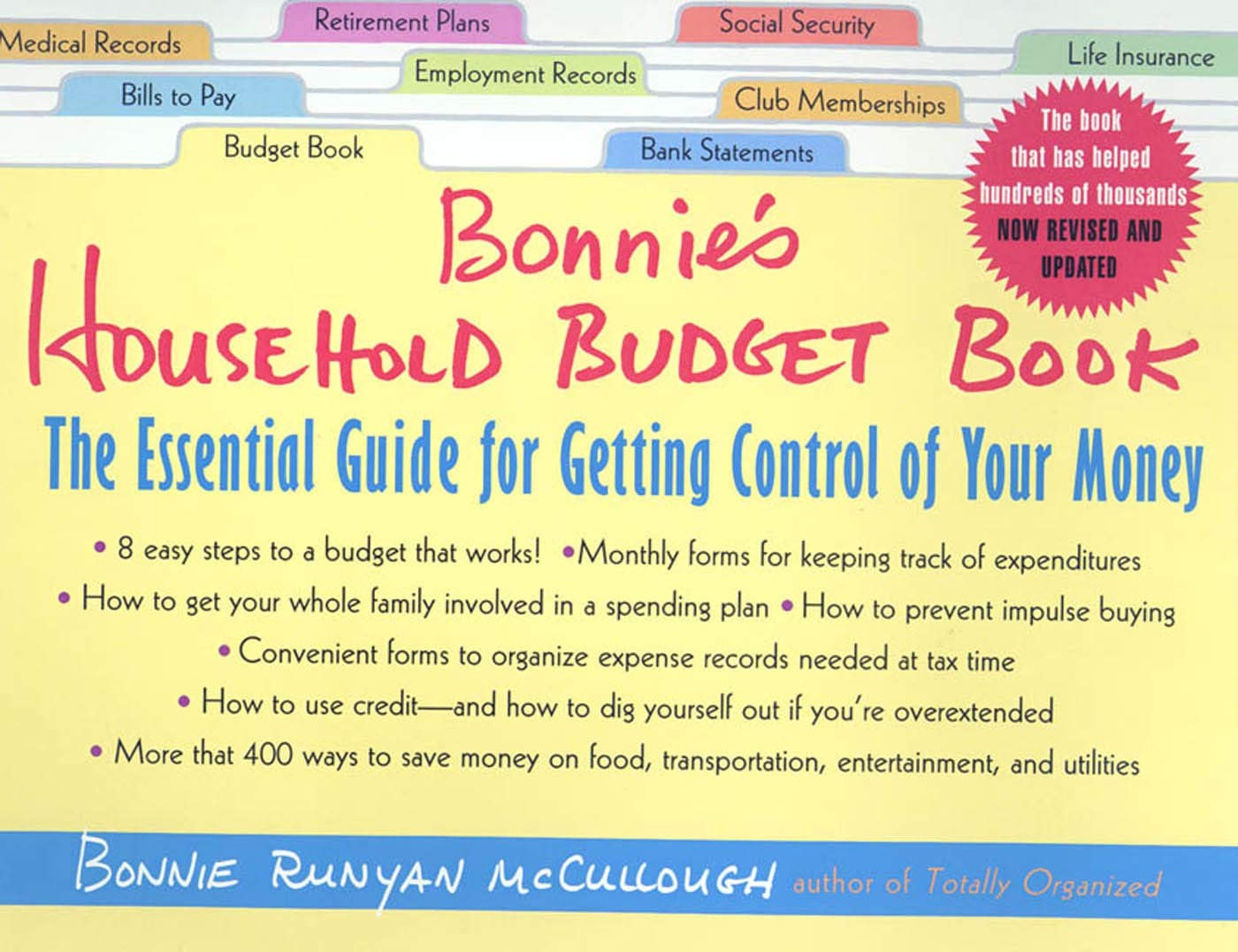 Bonnie's Household Budget Book The Essential Guide for Getting ...
