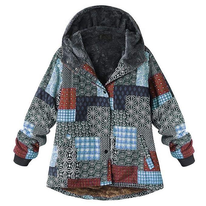 Darringls Chaqueta Mujer Invierno,Abrigos de Chaqueta Algodón de Lino Más Terciopelo Talla Grande Hoodie