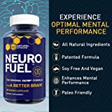 Natural Stacks - Neuro Fuel - Nootropic Stack - The Original CILTEP Formula - Boost Mental Performance - Supercharge Your Focus and Improve Memory - All Natural Brain Supplement