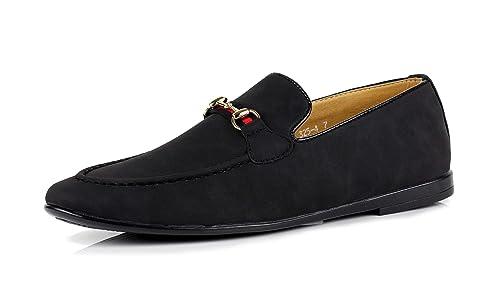 JAS Hombre Informal Mocasines Mocasines Italiano Moderno Zapatos SIN Cierres Ante Artificial GB Tallas: Amazon.es: Zapatos y complementos