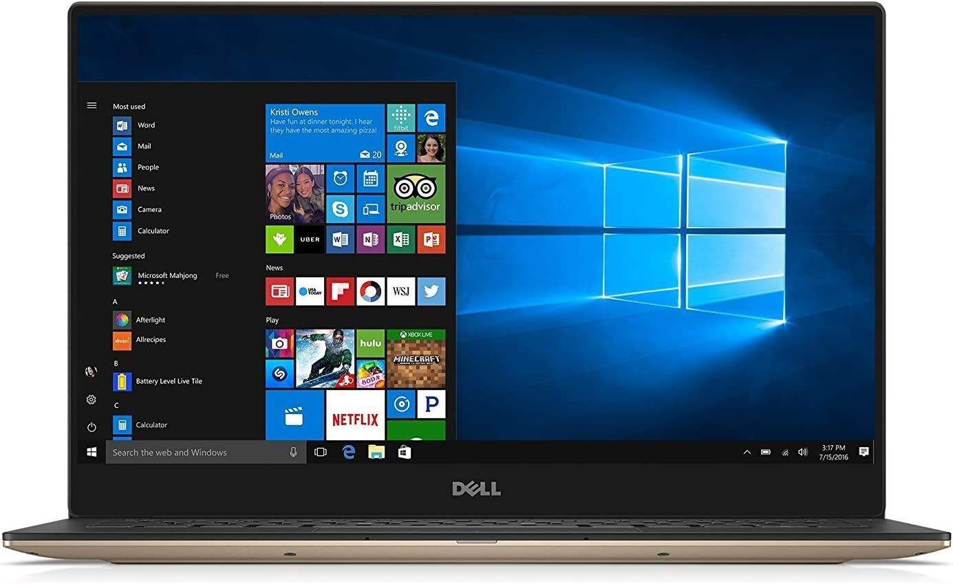 Dell XPS 9360 13.3 inches QHD Touchscreen Laptop PC - Intel Core i5-7200U 2.5GHz, 8GB, 256GB SSD, Bluetooth, Windows 10 Home - Rose Gold (Renewed)
