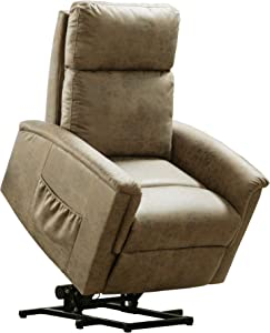 Merax Electric Recliner Chair Lazy Boy Sofa for Elderly, Office or Living Room, Buff