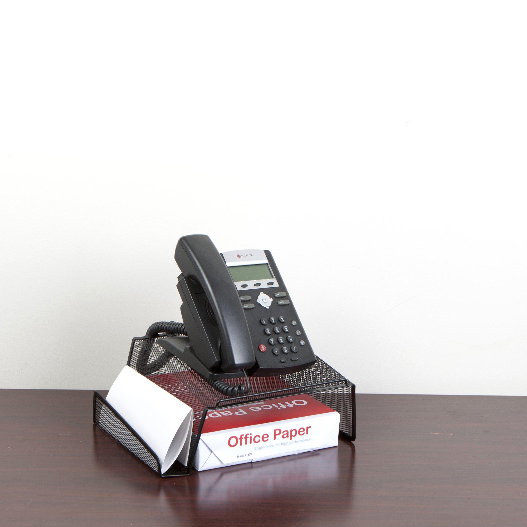 Mind Reader Metal Desktop Phone Stand, 2 Pack, Black by Mind Reader (Image #2)