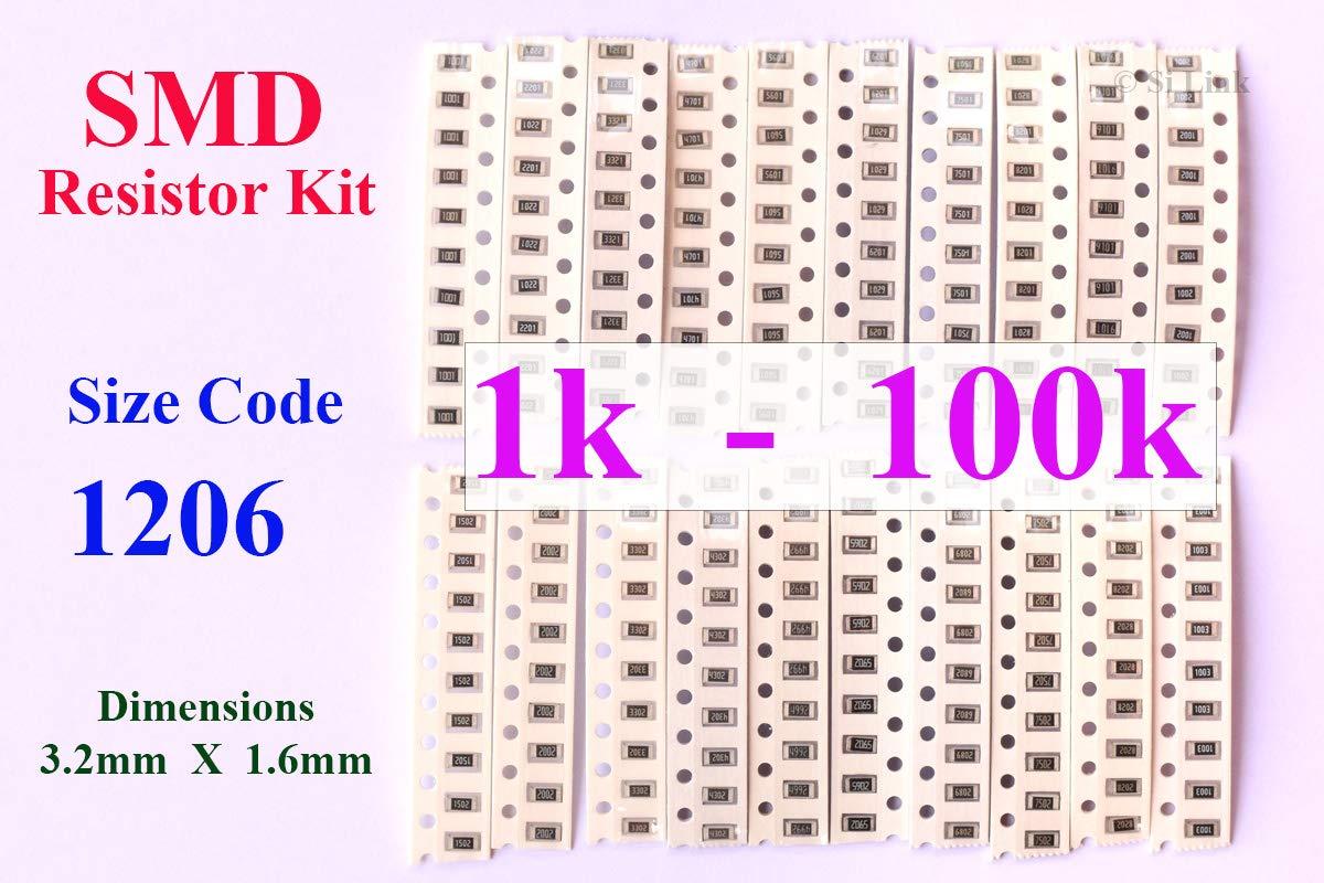 100pcs 1206 SMD Resistor 82K ohm 5/% RoHS