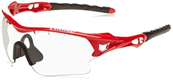 Catlike Storm Gafas para Ciclismo con Lente Fotocromática, Unisex, Rojo, Talla Única