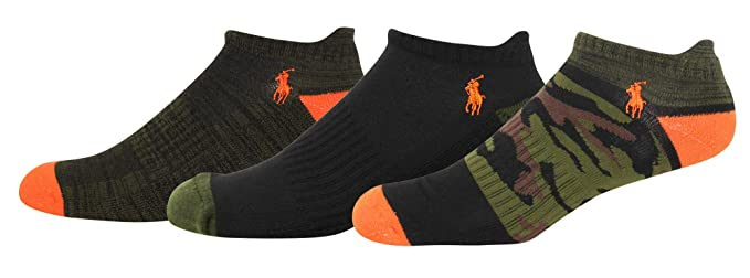 d73937f0f708 Image Unavailable. Image not available for. Color: Polo Ralph Lauren 3-Pack  Athletic Americana Low Cut Sock ...