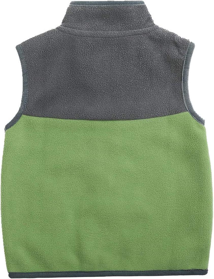 Sooxiwood Little Boys Fleece Vest Pocket Zipper