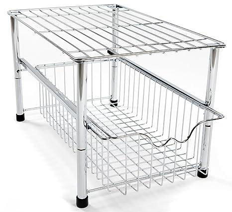 Amtido - Organizer impilabile da mettere sotto il lavabo con ...