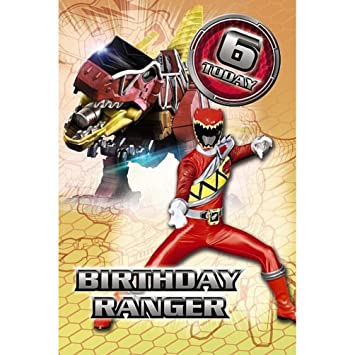 6th Birthday Power Rangers Birthday Card Amazon Toys Games